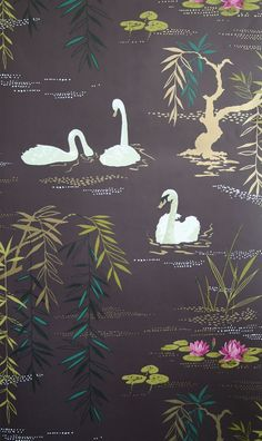 The wallpaper Swan Lake - from Nina Campbell is wallpaper with the dimensions m x 10 m. The wallpaper Swan Lake - belongs to the popul