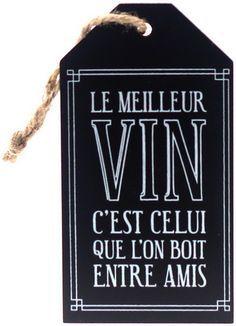 Étiquette pour bouteille de vin: Le meilleur vin .