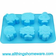 'Mr Men' baby cake mould. Great to make cakes for children (of all ages). Only AUD$10.95. FREE SHIPPING WORLD WIDE. Available @ http://www.allthingshomeware.com