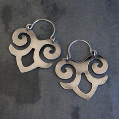 Maya Earrings Sterling Silver, Art Jewelry, Handmade, Solid Sterling Silver on Etsy, $85.00