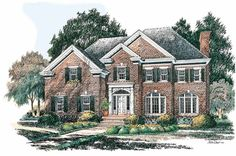 Eplans Colonial Revival House Plan - Fireplace Warms - 2295 Square Feet and 4 Bedrooms from Eplans - House Plan Code HWEPL02692
