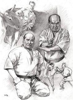 Sosai Mas Oyama founder of #Kyokushin Karate