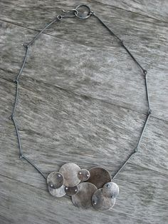 Sterling silver artisan cloud necklace by LisaColbyMetalsmith $300
