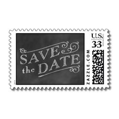Chalkboard Save the Date Stamp