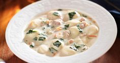 Slow Cooker Chicken Gnocchi Soup (Copycat) - Oh yeah!  Another Olive Garden WOW recipe!  www.GetCrocked.com
