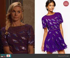 Shelby's purple sequinned dress on Hart of Dixie.  Outfit Details: http://wornontv.net/44080/ #HartofDixie