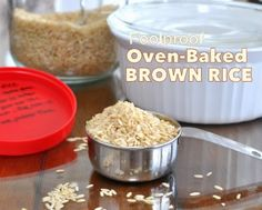 My absolute favorite way to make rice. Cook's Illustrated's Foolproof recipe for Oven-Baked Brown Rice, turns out moist, nutty and perfect every time. Baked Brown Rice, Baked Rice, Oven Baked, Healthy Cooking, Cooking Recipes, Healthy Eats, Cooks Illustrated Recipes, Latest Recipe, Good Food