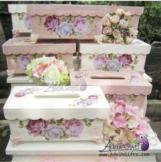 New sewing storage cubes fabric bins ideas Fabric Storage Baskets, Fabric Boxes, Decoupage Wood, Decoupage Vintage, Diy And Crafts, Paper Crafts, Creative Box, Cube Storage, Wood Storage