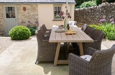 Gorgeous Neptune furniture- outside dining table