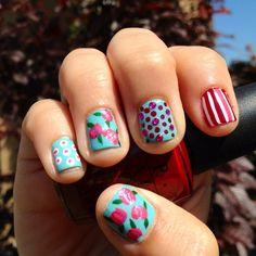 Candaces Betsy Johnson inspired nails