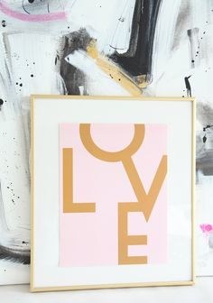 LOVE Print // Made By Girl // Stephanie Sterjovski Original Design, – Home Office Design For Women Gold Girl, Pink And Gold, Blush Bedroom Decor, Bedroom Ideas, Design Girl, Design Design, Who Do You Love, Home Office Design, Office Decor