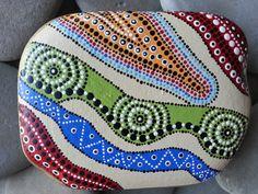 Dot Art on stone - by TheLakeshoreStore on Etsy