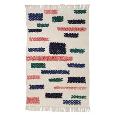 ARRO Home: Woven Kilim Rug with Tassels