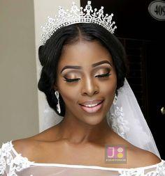 Eyes closed. Bridal makeup details on @bev_wills. Who else loves the crown?  Makeup by @jojostouch. #africansweetheartweddings #bride #makeup #bridalbeauty