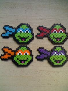 Teenage Mutant Ninja Turtles - Leonardo, Raphael, Michelangelo, Donatello (square board)