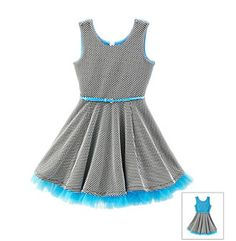 Beautees Girls' 7-16 Polkadot Dress With Lace at www.carsons.com