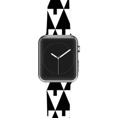"Gabriela Fuente ""Happy X-Mas Black & White"" Geometric Monotone Apple Watch Strap"