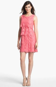 Jessica Simpson Tiered Lace Shift Dress