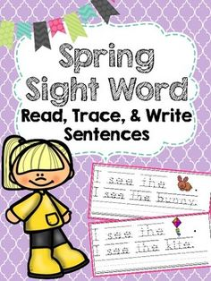 Spring Trace & Write Sight Word Sentences can be used as a low prep center. Simply print and laminate for use as tracing/handwriting practice and/or sight words simple sentences practice for beginning readers. This product could also be printed, cut, and stapled into a sight word take home reader.