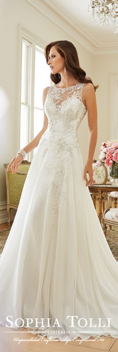 The Sophia Tolli Spring 2015 Wedding Dress Collection - Style No. Y11570 Linnet www.sophiatolli.com #weddingdresses