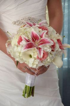 Image result for stargazers and calla lilies bridal bouquet
