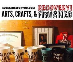 Arts and crafts are finished and mugs are heat pressing then sent out to those who ordered! So happy to support your clean time! Thanks for helping me stay sober love you all! xoxo   For mugs like this click the link in my bio to redirect to my site to get your own! SubstanceForYou.com   #recoveryispossible #sober #soberlife #sobriety #sobermovement #Soberissexy #partysober #recovery #vlog #vlogger #videoblog #blog #blogger #addictionrecovery #recoveryroad #alcoholicsanonymous #mentalhealth…