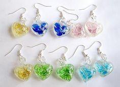 Mixed Lots 64508: Wholesale Lot 50Pairs Heart Shape Lampwork Glass Inside Flower Earrings Jewelry -> BUY IT NOW ONLY: $35.99 on eBay!