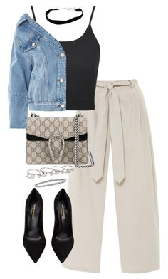 """Untitled #5327"" by theeuropeancloset on Polyvore featuring Chloé, Topshop, Maison Margiela, BERRICLE and Yves Saint Laurent"