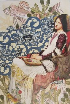 Amazing Collages by Kanchan Mahon (John William Waterhouse - Santa Cecília)