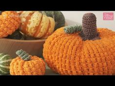 """Crochet Large Pumpkin Tutorial. In this tutorial, you will learn how to make a pumpkin that is approximately 8 - 12"""" in diameter based on your hook size and ..."""