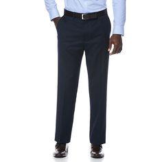 Men's Savane Travel Intelligence Straight Fit Suit Pants, Size: 34X32, Brt Blue