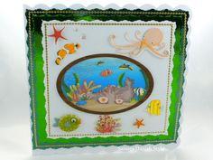 Aquarium auf Grußkarte.