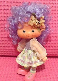 Vintage Brazilian Strawberry Shortcake Strawberry doll Fruit & Flower Violet
