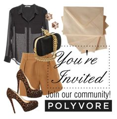 """You're Invited to Join Polyvore!"" by polybot ❤ liked on Polyvore featuring T By Alexander Wang, Marc by Marc Jacobs, Christian Louboutin, women's clothing, women, female, woman, misses and juniors"