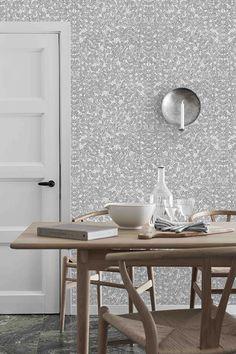 CH327 table and Wishbone chair by Hans J. Wegner from Carl Hansen & Søn | Scandinavian Designers 2 - Boråstapeter, Wallpaper
