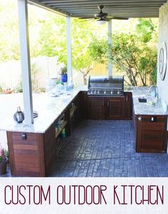 Outdoor Kitchen Reveal!!! - Ask Anna #summer #kitchen #diy #remodel #outdoors