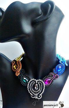 Soutache Rainbow Necklace