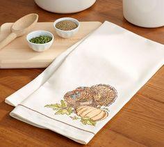 Heritage Turkey Kitchen Towel | Pottery Barn