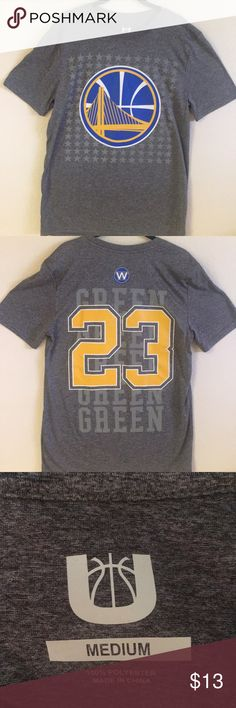 Men s Golden State Warriors Shirt Grey Golden State Warriors shirt. Blue  white gold cdbab7bcf
