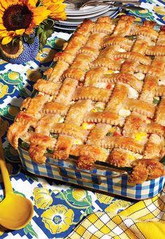 Chicken Pot Pie Chicken Casserole, Casserole Dishes, Casserole Recipes, Crockpot Recipes, Chicken Recipes, Cooking Recipes, Pie Recipes, Casserole Ideas, Bulk Cooking