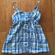 Plaid Tank Top Plaid patterned. Spaghetti strapped. Button front. Adjustable straps. Casual wear. Aeropostale Tops Tank Tops