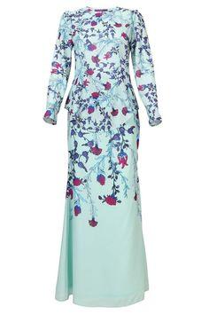 PREMIUM Jordana Modern Baju Kurung Set - Mint Floral
