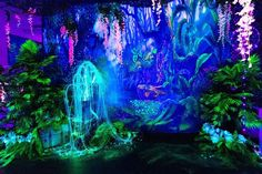 Avatar Theme, Avatar Movie, Neon Jungle, Jungle Party, Jungle House, Avatar World, Living Room Murals, Neon Painting, Neon Design