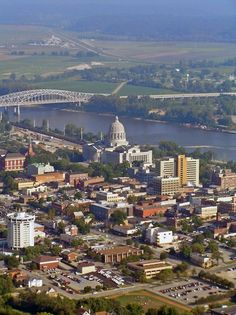 Aerial view of Jefferson City, Missouri
