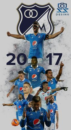 Millonarios FC, el equipo del pueblo bogotano. 2017 #Millos #Futbol SS Desing. Collages, Dragon Ball, Deadpool, Soccer, David, Football, Adidas, Iphone, Collection