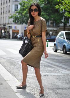 Los look lady like q suelen asociarse con tacones ahora también se asocian con balerinas !