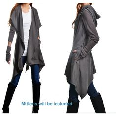 deconstructed parka jacket asymmetrical trench coat hoodie spring... (£56) ❤ liked on Polyvore featuring outerwear, coats, parka trench coat, trench parka, grey trench coat, gray coat and summer coat