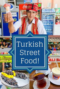 Turkish ice cream, stuffed mussels, Turkish tea and yogurt... check out all the delicious street food of Turkey travel!: