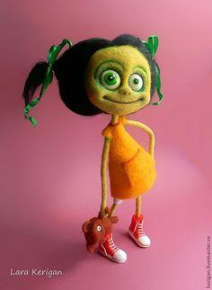 Купить Сестры Зомби - зомби, кошмар, ужас, кукла, авторская кукла, войлочная игрушка, сестры