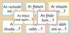 Gaeilge Question Starters Display Posters - gaeilge, question, starters, display posters, display, posters